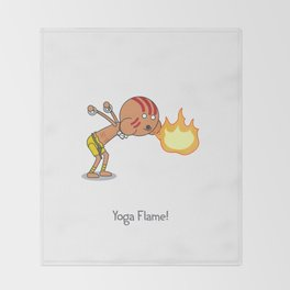 Yoga Flame! Throw Blanket