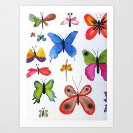 butterflies N.o 2 Art Print