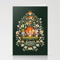 alice in wonderland Stationery Cards featuring Wonderland by rosekipik