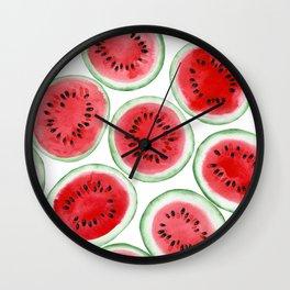 Watermelon slices pattern Wall Clock