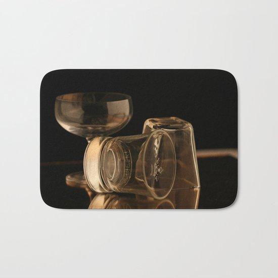 Glasses in Gold Tones Bath Mat