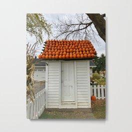 The Pumpkin House Metal Print
