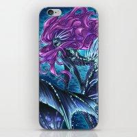 daunt iPhone & iPod Skins featuring Deep Sea Mermaid by Daunt