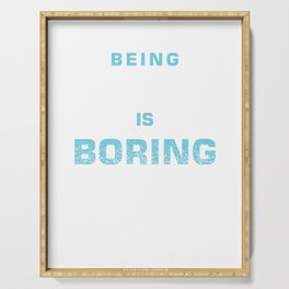 Being Normal Is Boring Paramotor Paragliders Paragliding Extreme Sports Sky Diving Gift Serving Tray