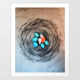 Girl in Nest Art Print