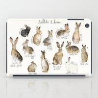 rabbits iPad Cases featuring Rabbits & Hares by Amy Hamilton