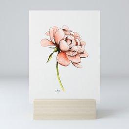 Coral Pink Peony Mini Art Print