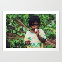 Jungle boy (Moluccas, Indonesia) Art Print