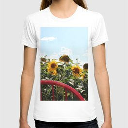 Sunflowers by a Red Chair T-shirt