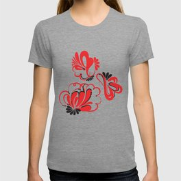 Khokhloma Flowers T-shirt