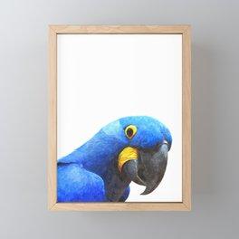 Blue Parrot Portrait Framed Mini Art Print