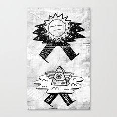 Sun / Pyramid walker combo Canvas Print