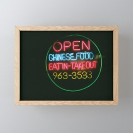Eat In Take Out Framed Mini Art Print