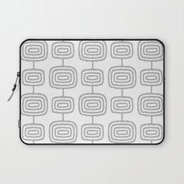 Mid Century Modern Atomic Rings Pattern Gray 3 Laptop Sleeve