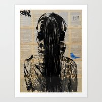 sonic youth Art Prints featuring Sonic by LouiJoverArt