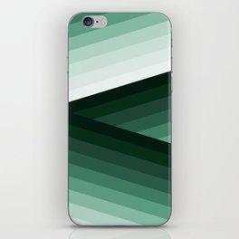 Serene Contemporary Green Ombre Design iPhone Skin