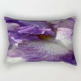 Iris Close Up In Shades of Cream and Purple  Rectangular Pillow