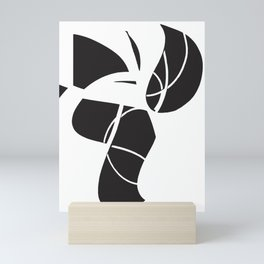 abstract black and white no.2 Mini Art Print