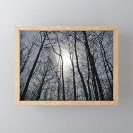 White Sky, Black Trees Framed Mini Art Print