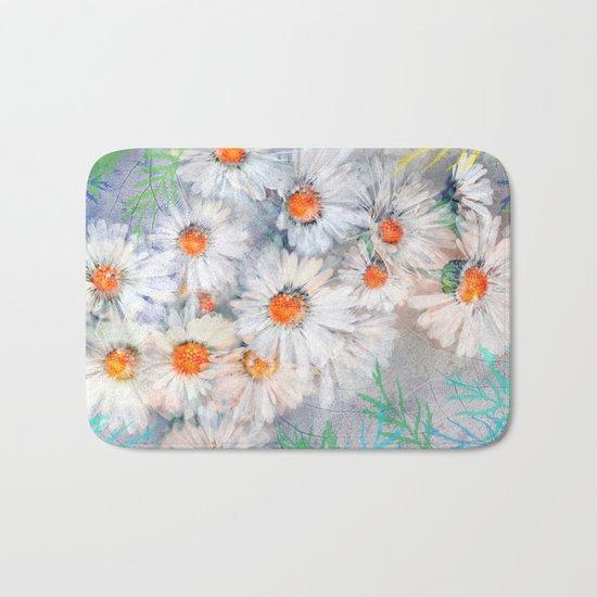 Vintage daisies(4) Bath Mat