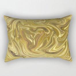 Rich Gold Shimmering Glamorous Luxury Marble Rectangular Pillow