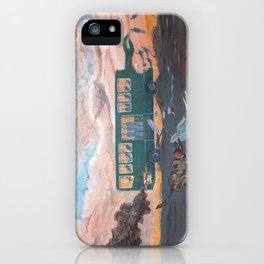 Perspective on the social mechanics of the retirement system POSTMORT iPhone Case
