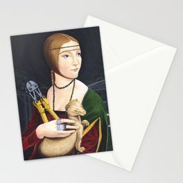 Lady with Liberated Ermine Stationery Cards