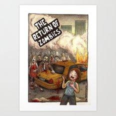 The Return of Zombies Art Print
