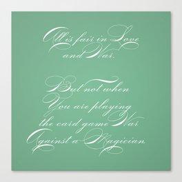 Proverbs: All is Fair Canvas Print