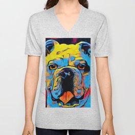 Bulldog Unisex V-Neck