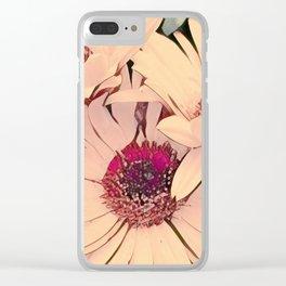 Sunlit Flower Beauty Blush Clear iPhone Case