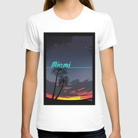 miami T-shirts featuring Miami by Nioko