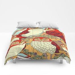 Burrowing Owl Family Comforters