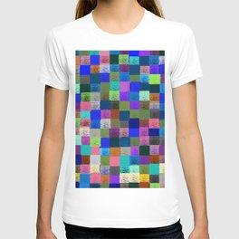 Neon Pixelated Patchwork T-shirt