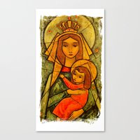 madonna Canvas Prints featuring Madonna by Guna Andersone & Mario Raats - G&M Studi