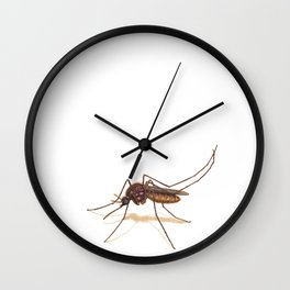 Mosquito by Lars Furtwaengler | Colored Pencil / Pastel Pencil | 2014 Wall Clock