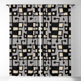 Mid Century Modern Abstract 212 Gray Blackout Curtain