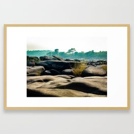 River Stones of the Congo River Framed Art Print