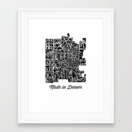 made in denver Framed Art Print