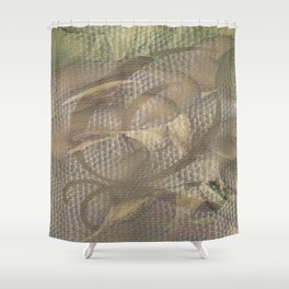 Three of Pentacles Shower Curtain