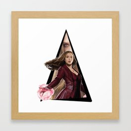 Youtriangle ∆ Scarlet Witch Framed Art Print