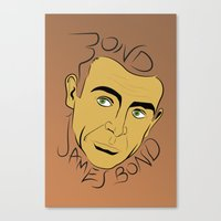 james bond Canvas Prints featuring Bond, James Bond by FSDisseny