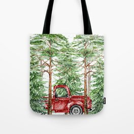 Woodland Snow Tote Bag