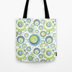 Scrambled Circles Blue/Green Tote Bag