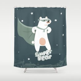 superbear Shower Curtain
