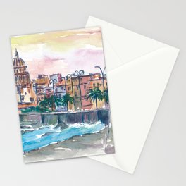 Dreaming of a Havana Cuba Malecon Evening Stationery Cards
