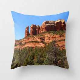 Red Sandstone Rockformation Throw Pillow