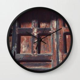 cedar Wall Clock
