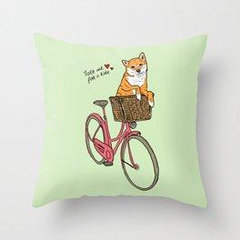 Take Me for a Ride Throw Pillow
