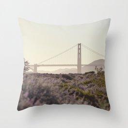 Glowy Golden Gate Throw Pillow